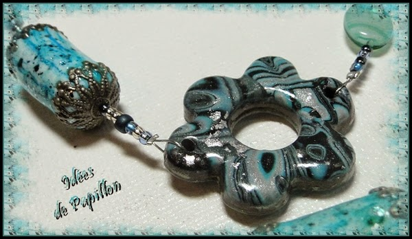 perles en fimo bleu turquoise