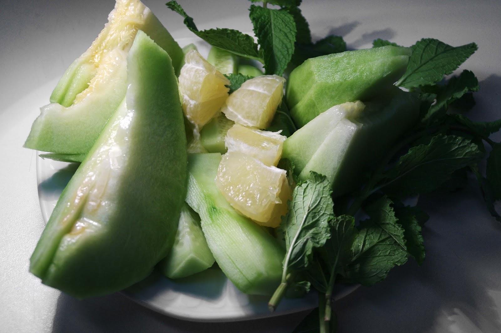 cortamos melón, limón y pepino