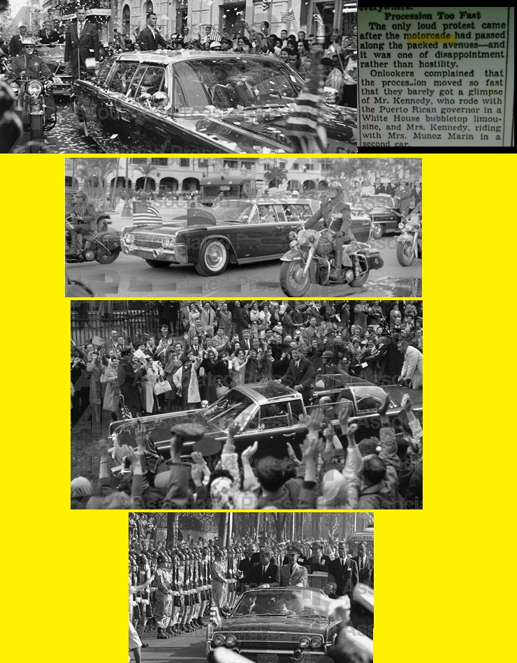 PRESIDENT KENNEDY SECRET SERVICE JFK MOTORCADES- BEYOND DALLAS
