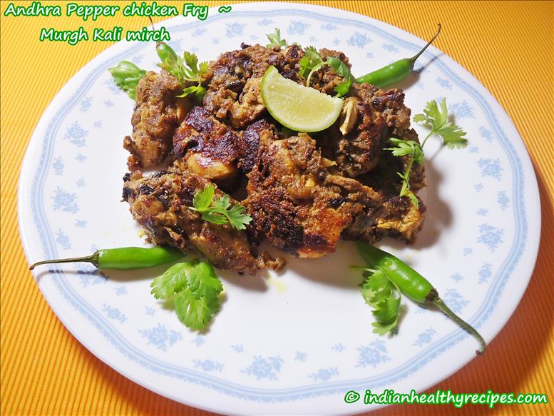 chicken kali mirch recipe | hyderabadi pepper chicken roast