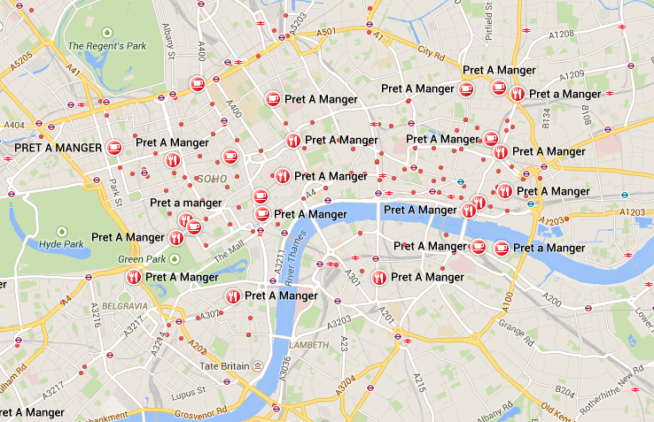 Pret a Manger is everywhere (29 Things I Learned in London) @TheBareMidriff
