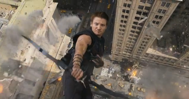 The Avengers 2012 Super Bowl Spot Extended Movie Trailer Hawkeye