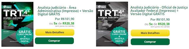 inscrições do concurso para analista e técnico judiciário do TRT-RS.