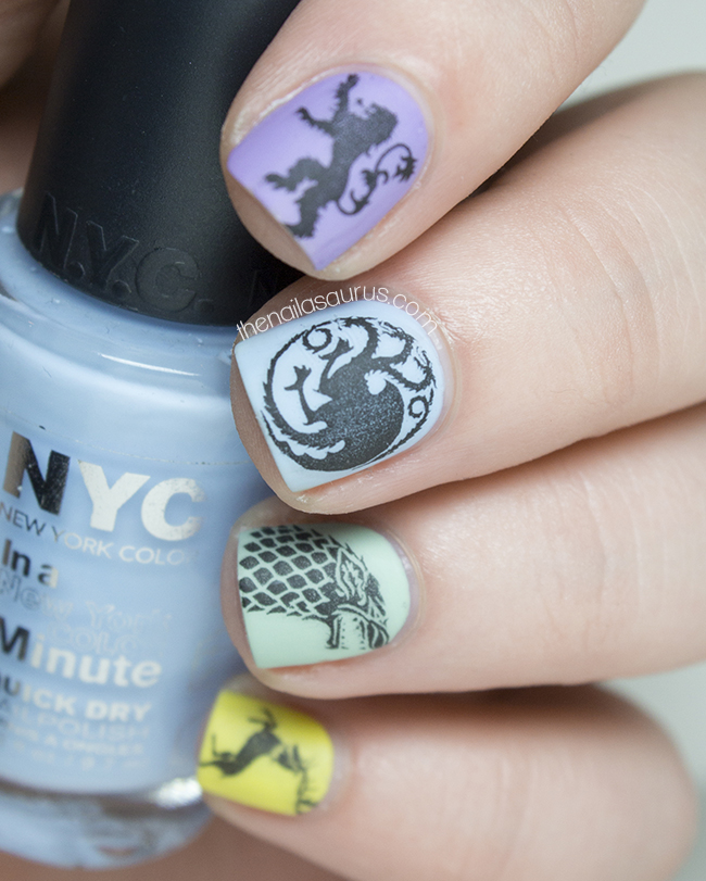 Game of Girly Thrones - The Nailasaurus | UK Nail Art Blog