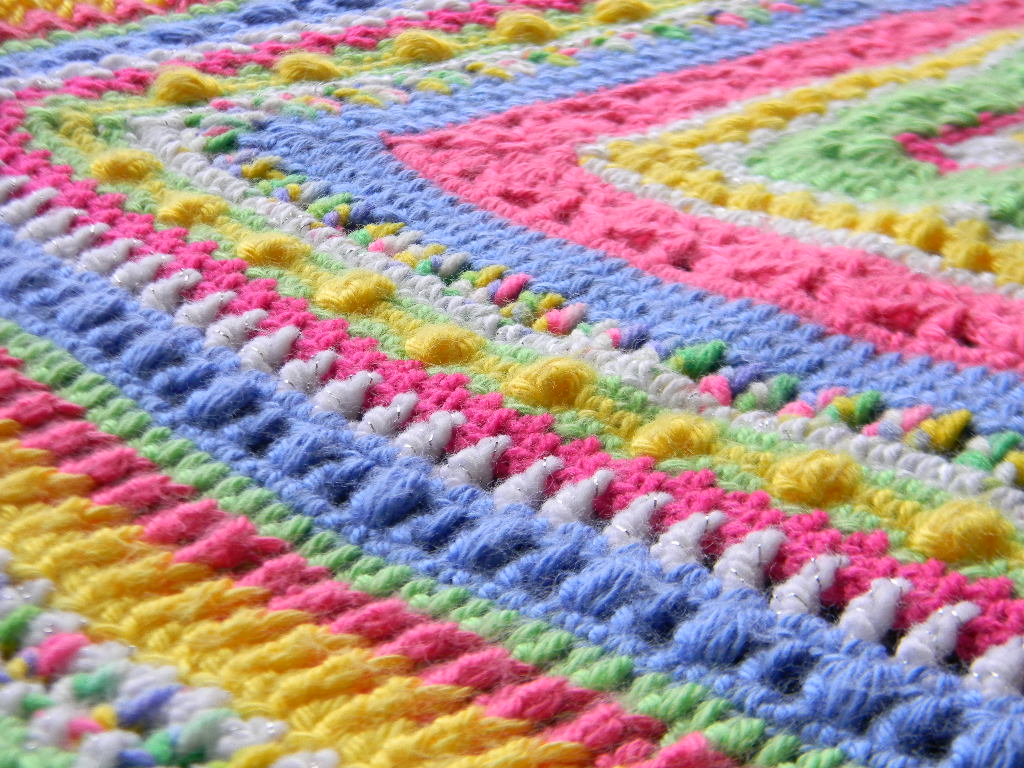 Crochet Patterns Baby Afghan : Bizzy Crochet: Faeries- Sampler Baby Afghan Pattern