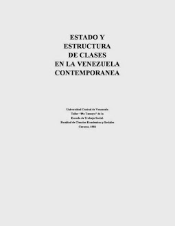 Estado y Estructura de clases en la Venezuela Contemporánea