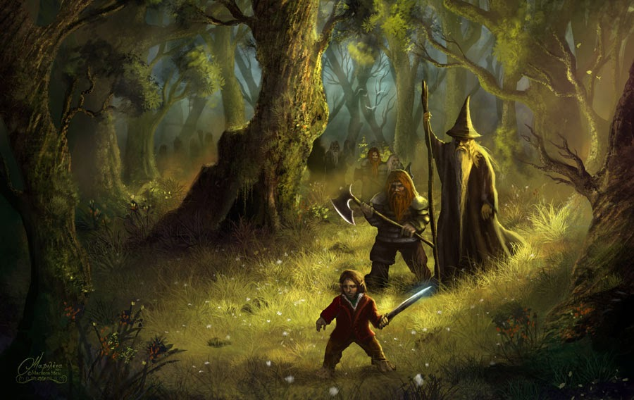 bilbo-gandalf-and-the-dwarves-fan-art