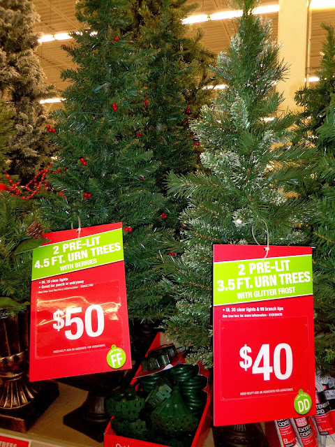 by the way i mentioned that i was waiting for the set of two 4 12 foot trees for 50 to go on sale in big lots - Big Lots Christmas Trees Sale
