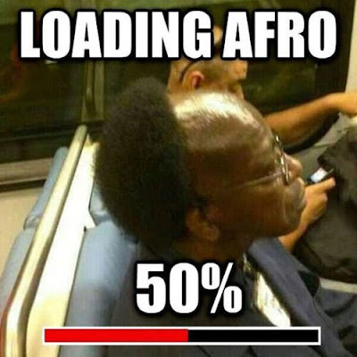 Loading Afro 50 Percent Complete Funny Black Guys Hair On The Subway
