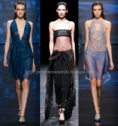 Прозрачни къси вечерни рокли пролет-лято 2013