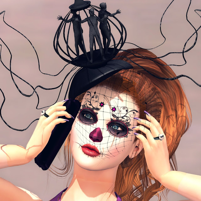 baiastice caged headpiece, glam affair dia del muertos