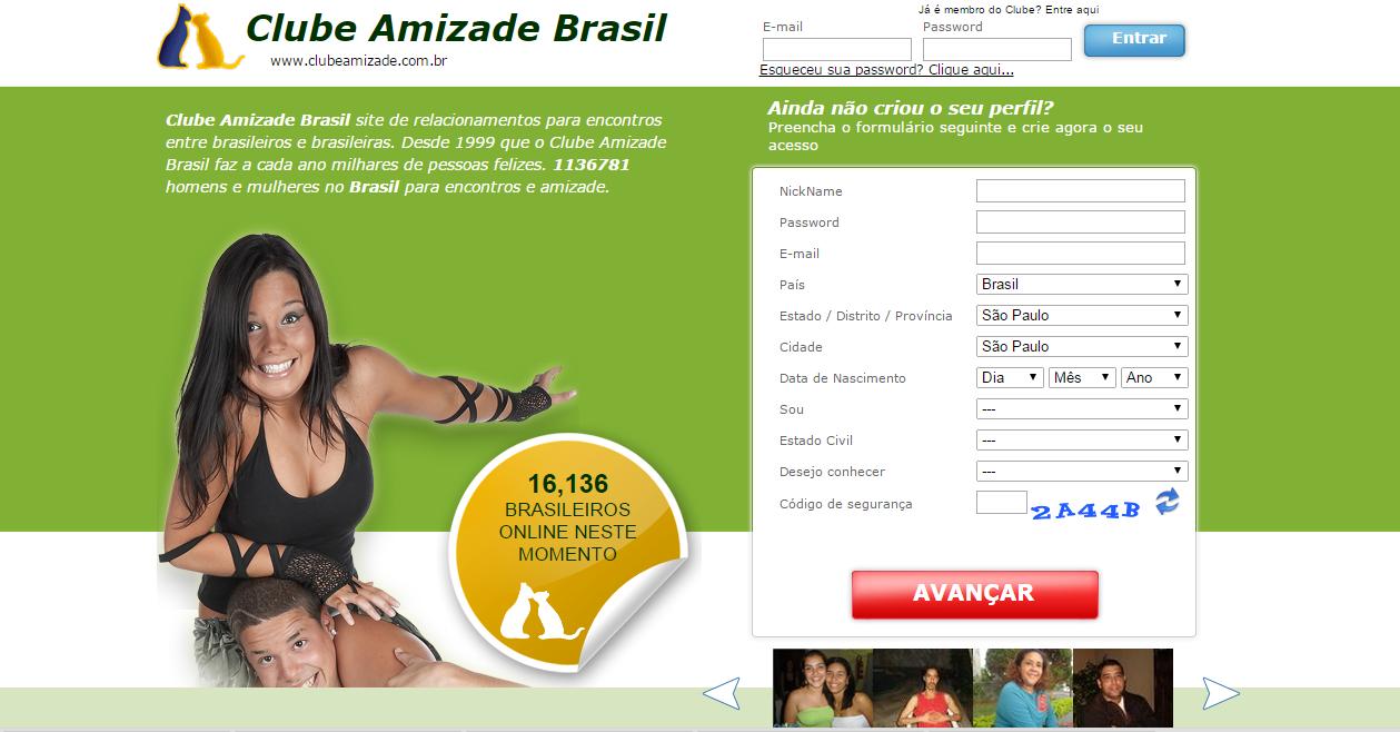 clube amizade brasil gratuito gratis site online paquera relacionamento namoro encontro