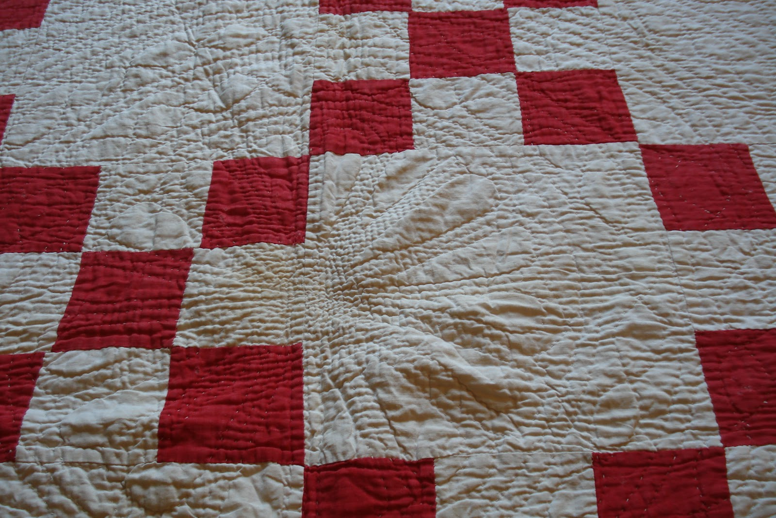Welsh Quilts Red And White Strippy Welsh Quilt