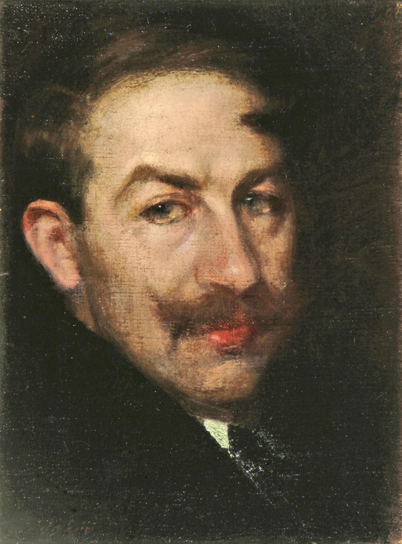 Luis Huidobro Laplana, Self Portrait, Portraits of  painters