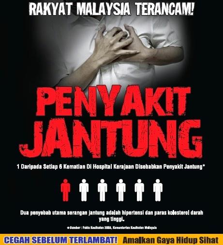 sakit jantung pembunuh nombor  1 malaysia