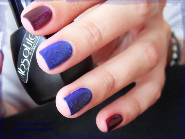nail art avec semi-permanent effet oeil de chat7