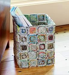 cesto de jornal