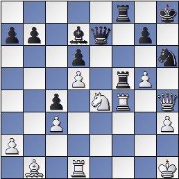 Posición de la partida de ajedrez Portisch - Ulvestad Olaf, después de 36... Ch6