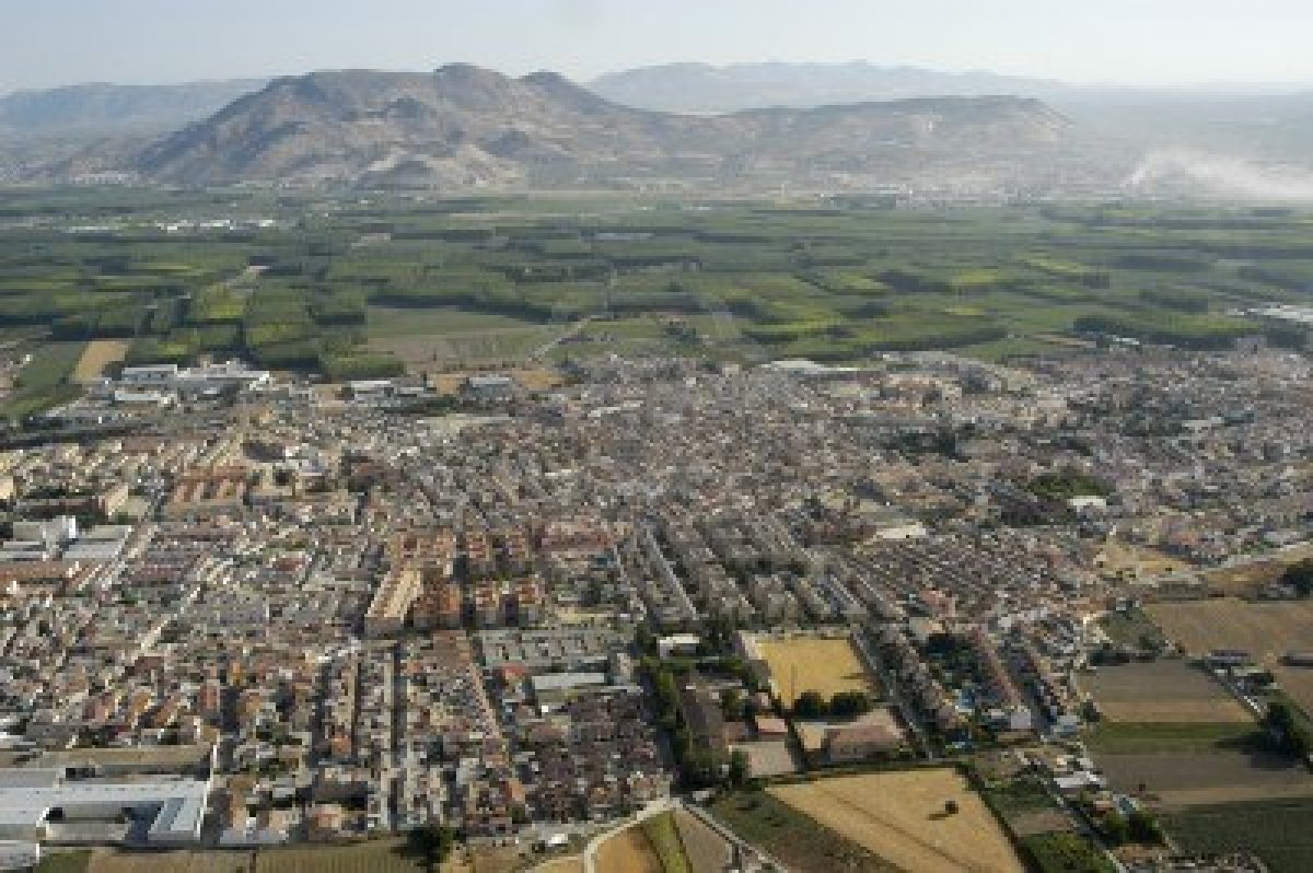 Santa Fe Spain  city pictures gallery : Aerial View of Santa Fe, in the Province of Granada . http://www.123rf ...