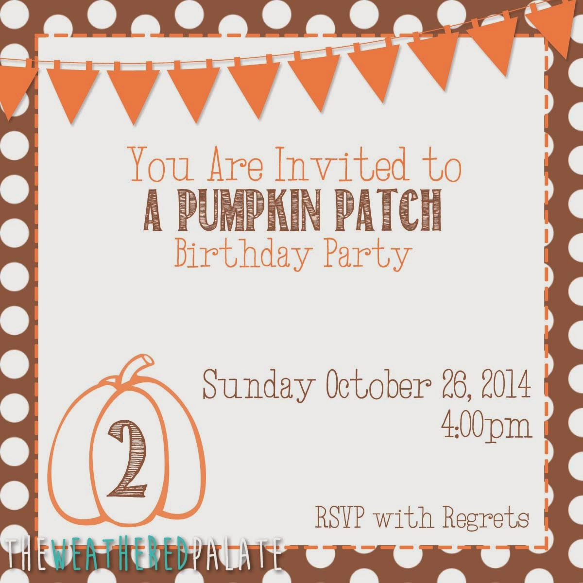 Pumpkin Patch Birthday Party | The Weathered Palate