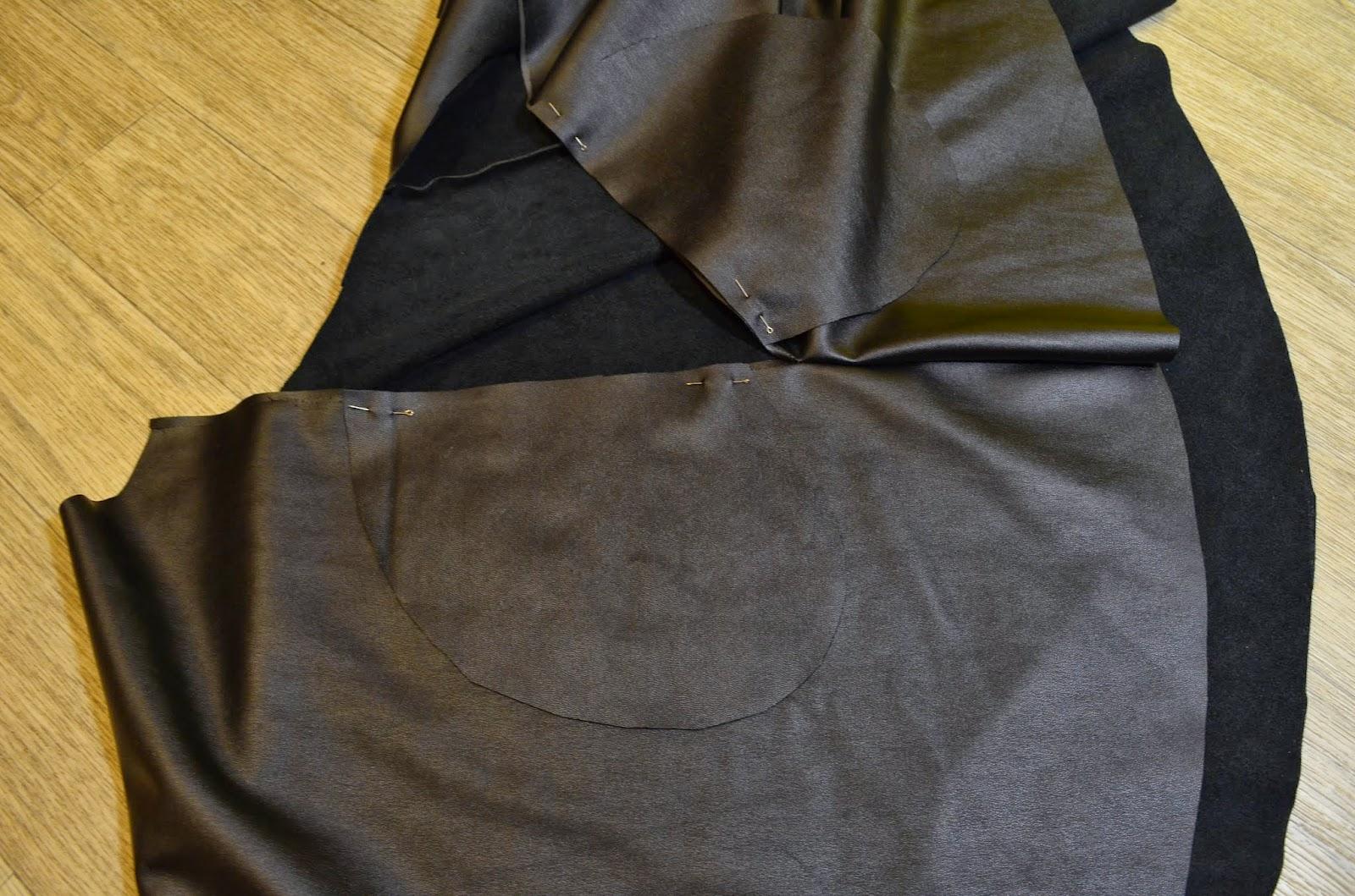Сшить юбку из кожзама