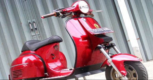 Image Vespa Super Modifikasi
