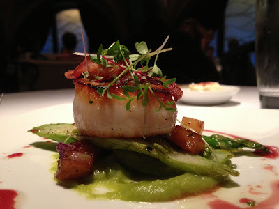 Scallop at Farallon restaurant in San Francisco