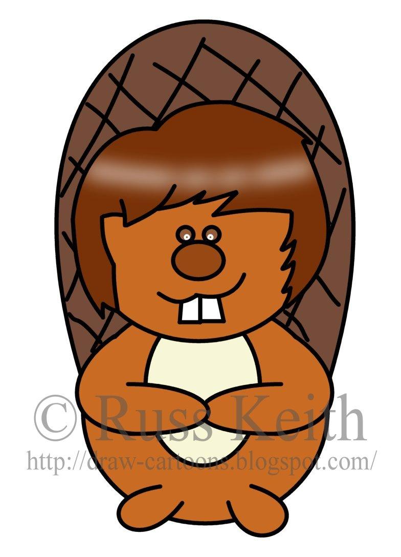 how to draw a beaver cartoon