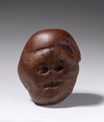 "Makapansgat Pebble- ""the pebble of many faces"" was likely a manuported natural stone"