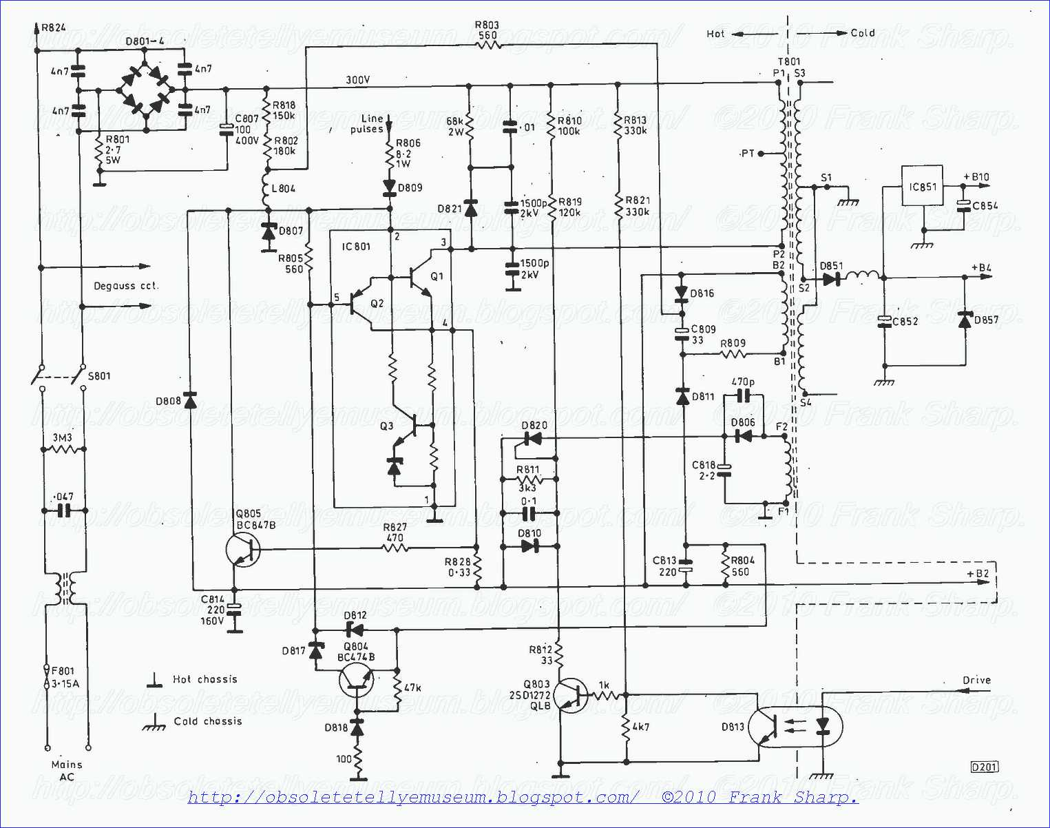 obsolete technology tellye ! panasonic tx 21s1tc chassis z5  Crt Tv Moduleted Universal Power Supply Circuit Diagram the power supply the chopper power supply, which operates in synchronism with the line timebase, uses a new sanken chip fig 2 shows the circuitry on the