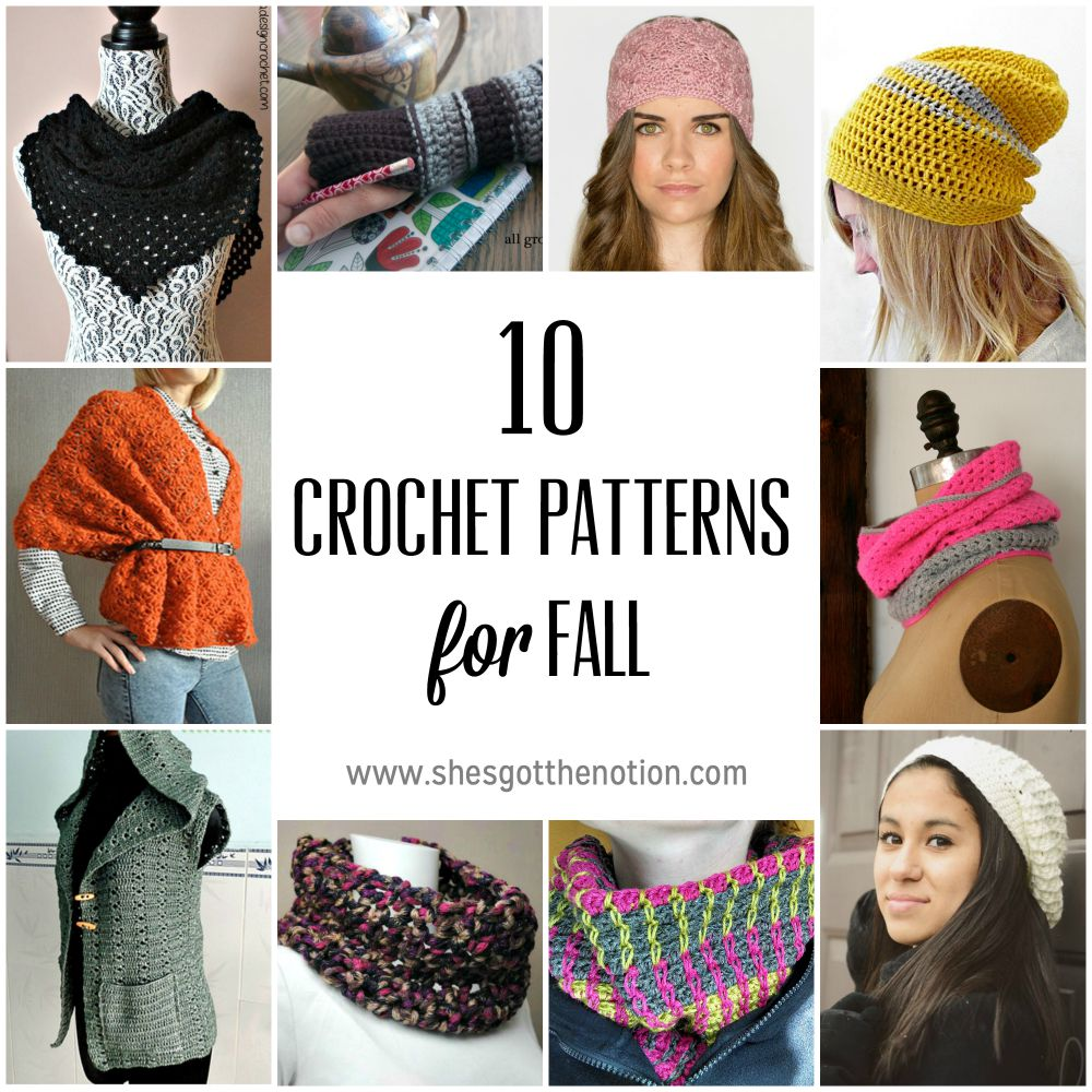 10 Fall Crochet Accessories: free patterns | She's Got the Notion