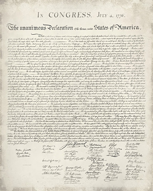 declaration of independence use The colonists' use of persuasion to influence by using repetition to achieve their  means the declaration of independence is what 56 colonists saw as a logical.