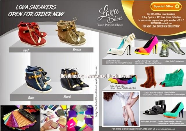 Contoh Desain Brosur Butik Sepatu