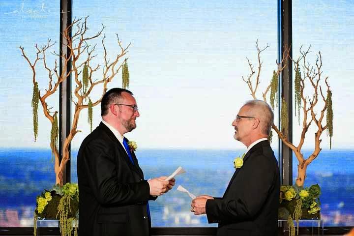 Seattle wedding ceremony, same love, one love