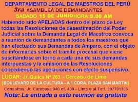 26 DE ABRIL HORA: 9.00 AM ASAMBLEA DE DEMANDANTES DE AMPARO