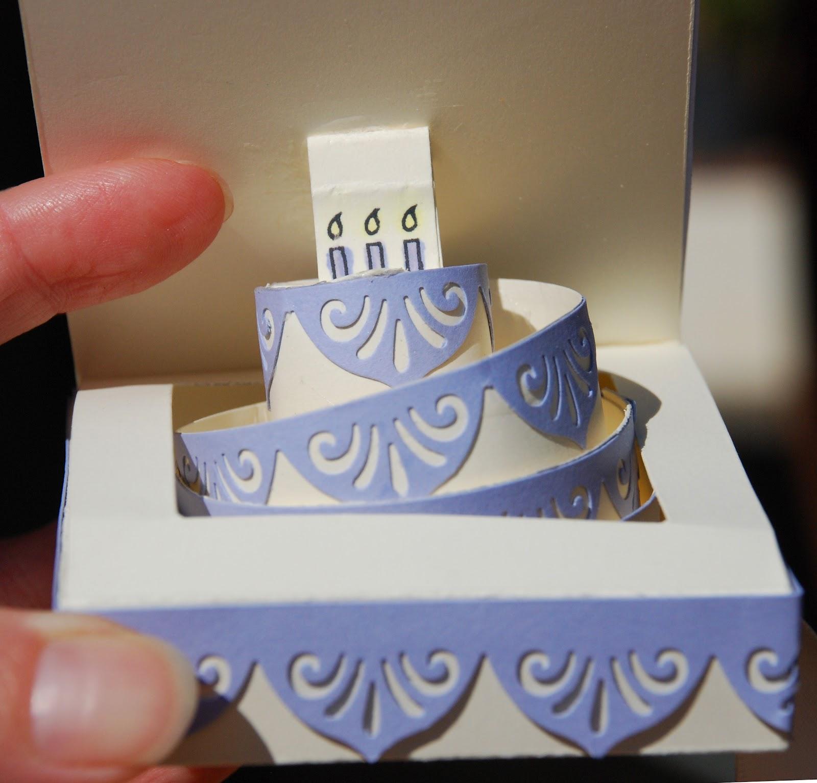 Scrap Scha4 Birthday Cake Pop Up Card – Pop Up Birthday Cake Card