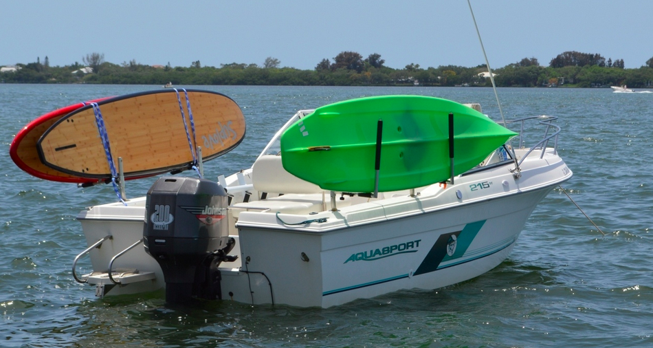 paddleboard rack for fishing boat