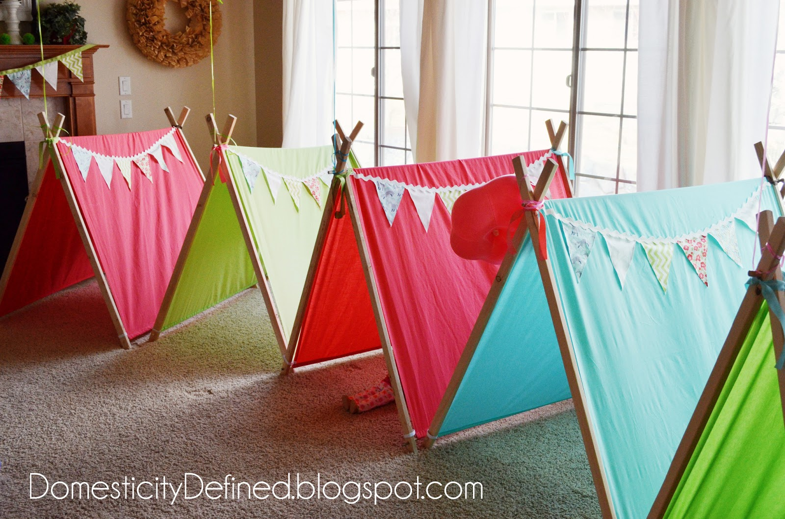 How To Make A Tent Domesticity Adorable Glamping Play Tents