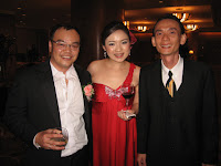 The wedding couple with band manager Jason Geh