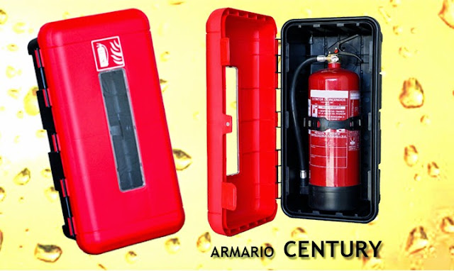 Armario extintor CENTURY en Pvc para extintores de 6, 9/12 y Co2