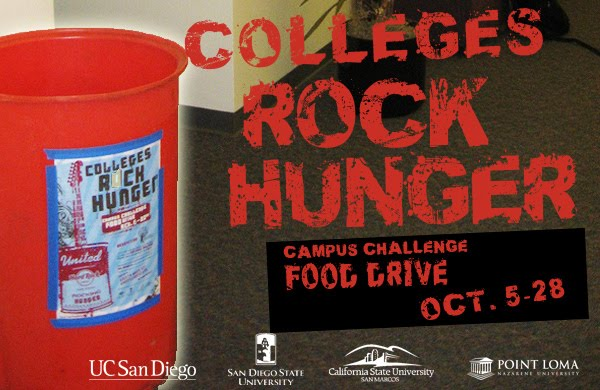 Colleges Rock Hunger Oct. 5-28
