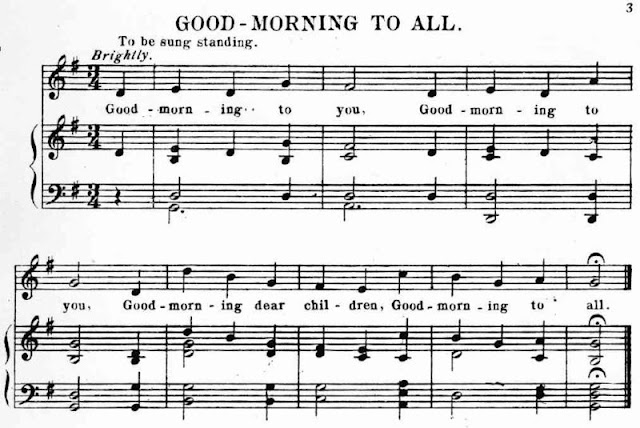 "Patty and Mildred Hill co-wrote a song called ""Good Morning to All""."