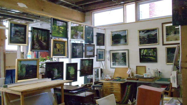 My studios space at  Walnut Studio