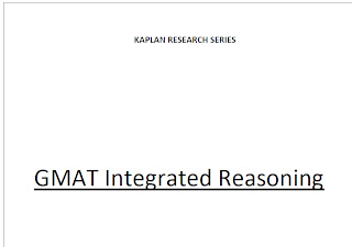GMAT Kaplan: Integrated Reasoning