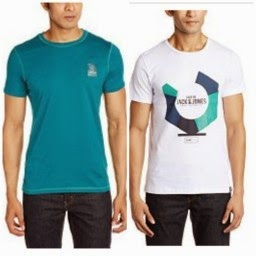 Jabong ; Buy Jack & Jones T- shirts at Min 60 % off :buytoearn