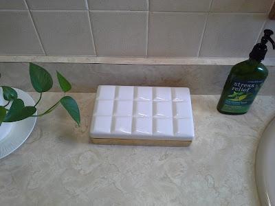 bathroom white gold nate berkus ceramic geo box