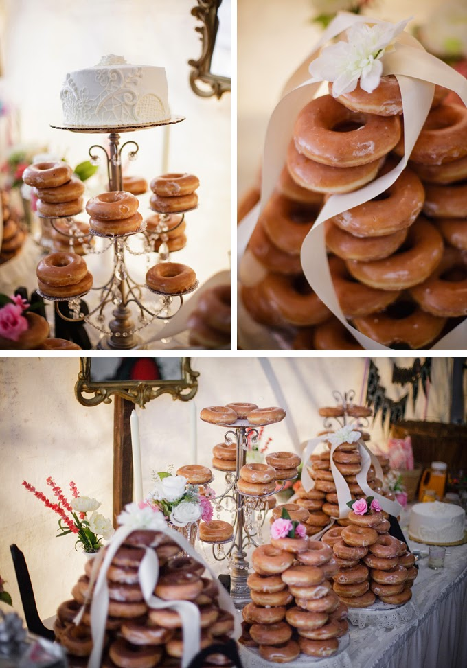 DIY Doughnut Bar Real Wedding