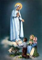 Virgen de fatima y pastorcitos
