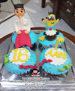 Cupcake Islam Tema Minion