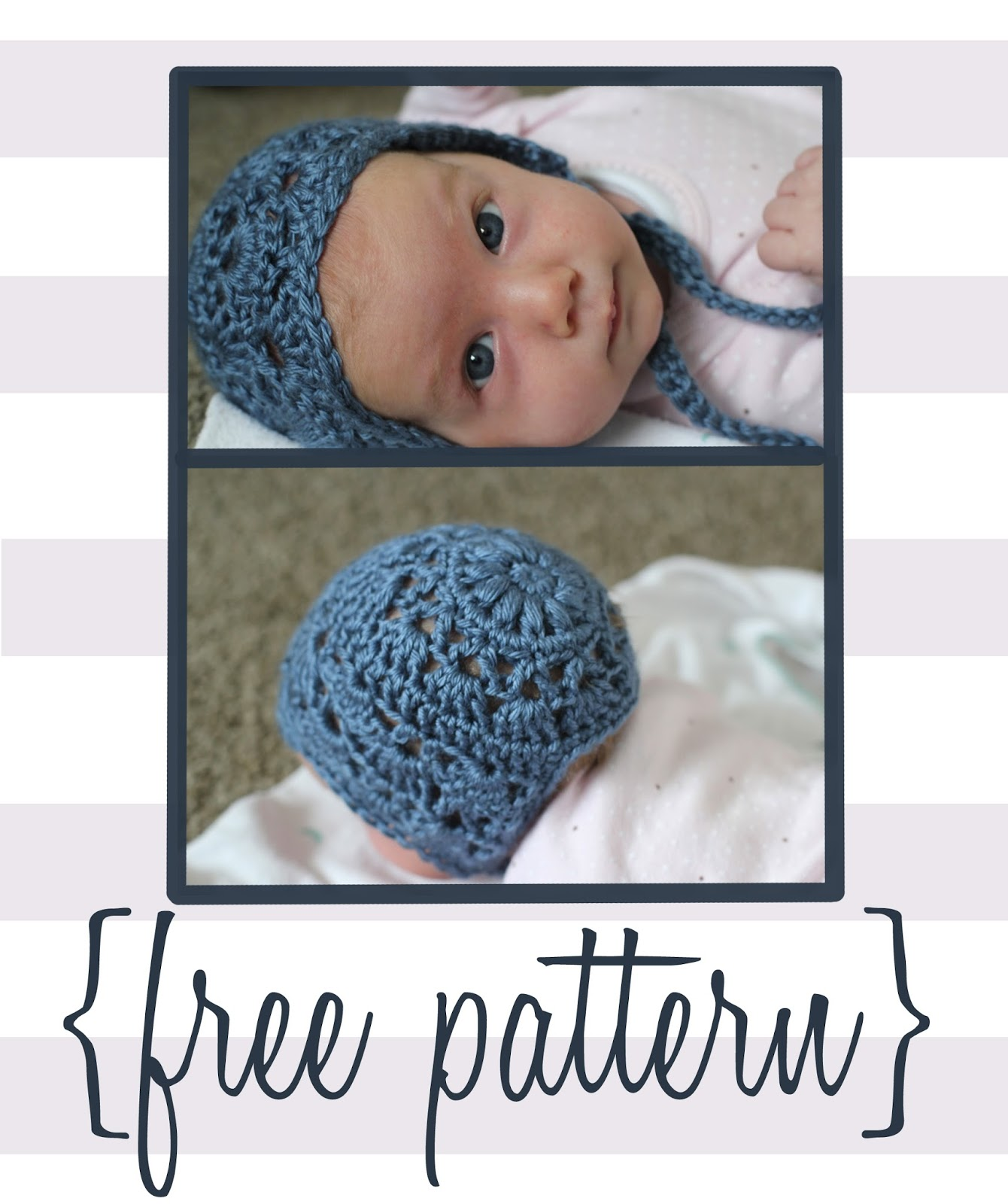 Bloggity Blog Baby Bonnet Crochet Pattern Free